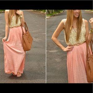 Zara woman maxi skirt peach size M
